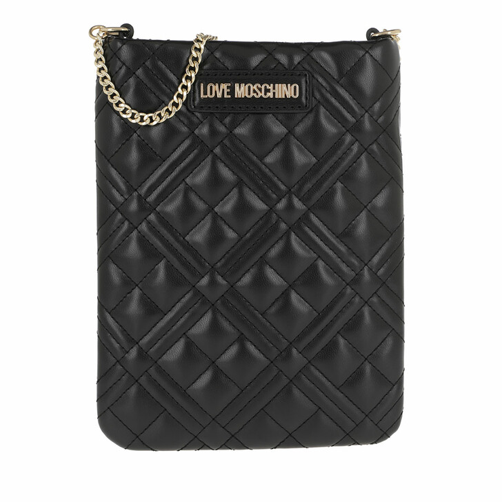 bags, Love Moschino, Shoulder Bag Quilted Nappa Nero