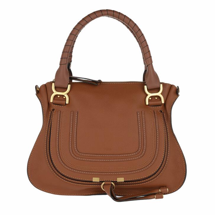 Handtasche, Chloé, Marcie Medium Shoulder Bag Tan