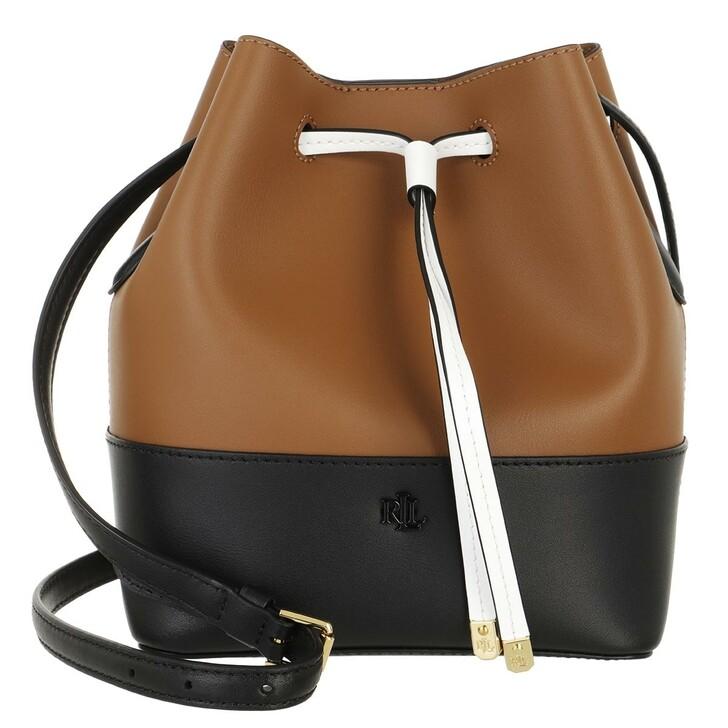 bags, Lauren Ralph Lauren, Debby Ii Drawstring Medium Lauren Tan/Black
