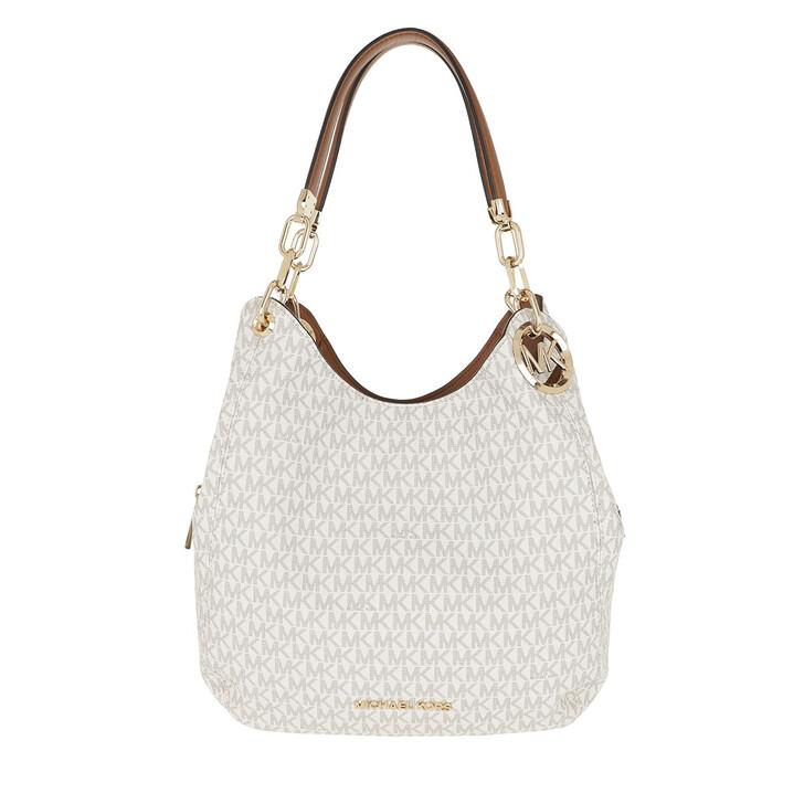 Handtasche, MICHAEL Michael Kors, Lillie Large Chain Shoulder Tote Vanilla/Acorn