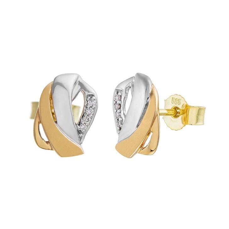 Ohrring, BELORO, Earring Diamonds Gold/White Gold