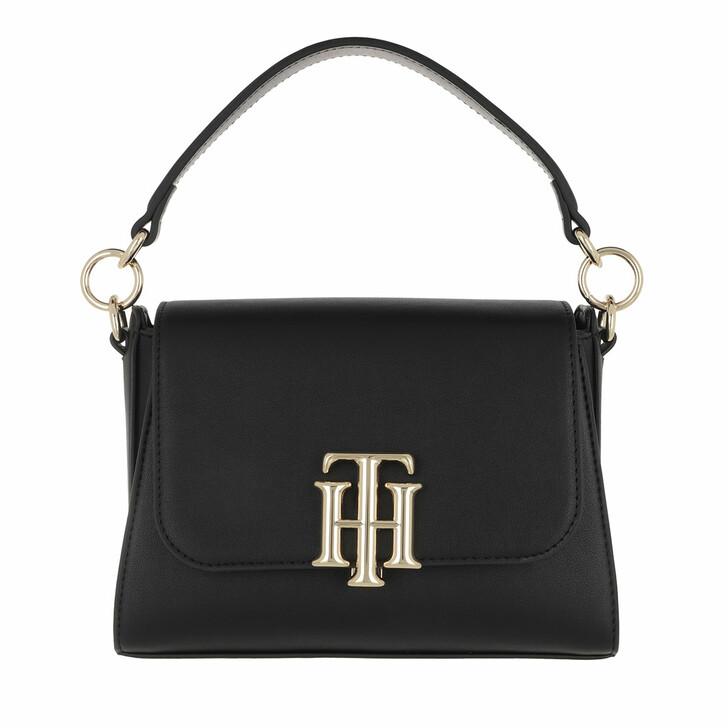 Handtasche, Tommy Hilfiger, TH Lock Small Satchel Bag Black
