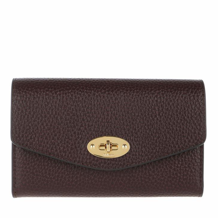Geldbörse, Mulberry, Darley Medium Wallet Leather Oxblood