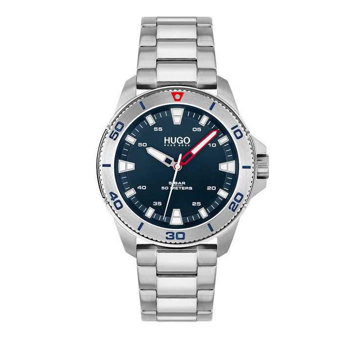 watches, Hugo, Watch Streetdiver Silver