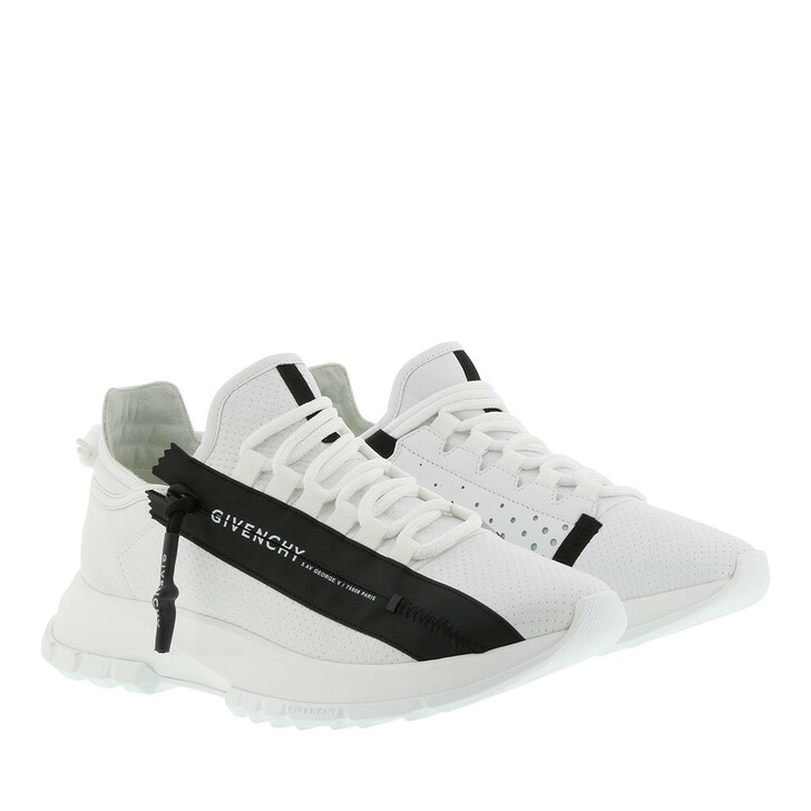 Schuh, Givenchy, Spectre Low Sneakers Perforated Leather White Black
