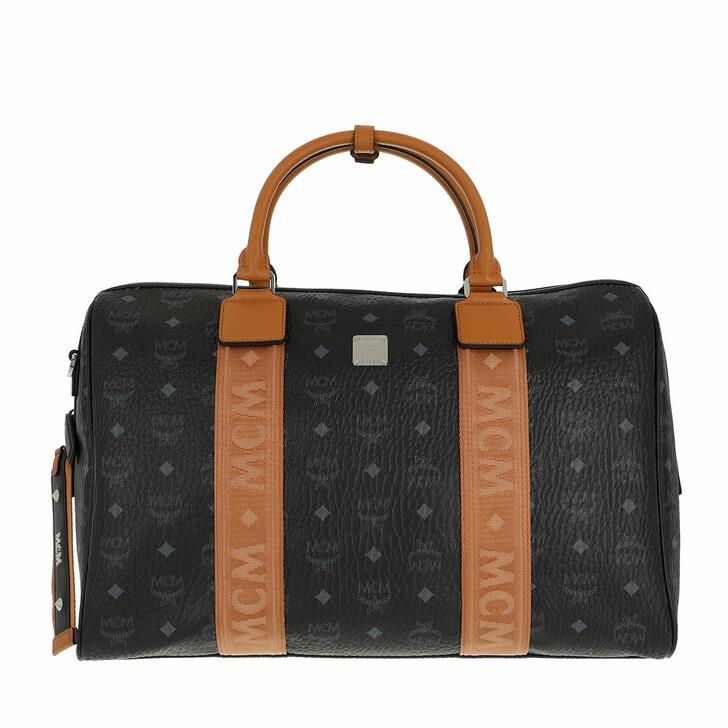 bags, MCM, Travel Visetos Weekender  Black