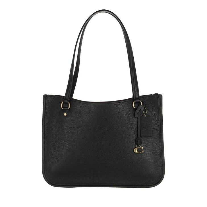 Handtasche, Coach, Polished Pebble Leather Tyler Carryall Black