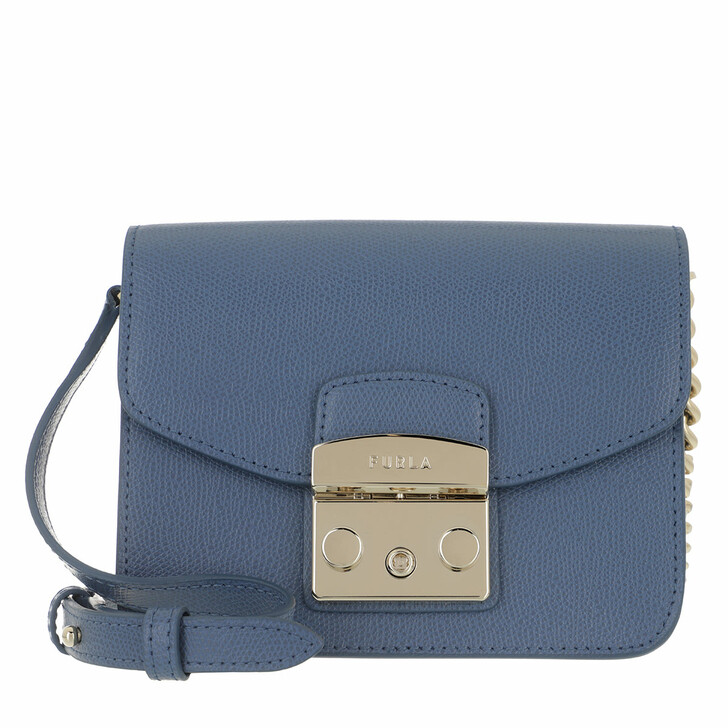 Handtasche, Furla, Metropolis Mini Crossbody Blu Denim