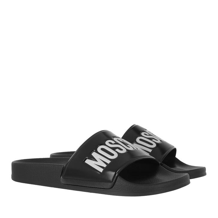 shoes, Moschino, Sabotd Pool25 Pvc  Logo  Bianco