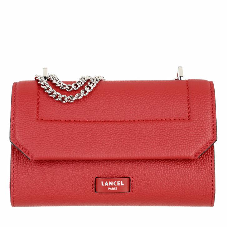 bags, Lancel, Flap Bag Xs Red Lancel