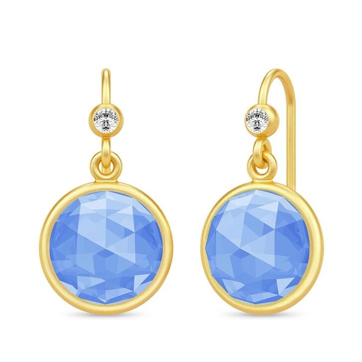 earrings, Julie Sandlau, Cocktail Earrings Yellow Gold