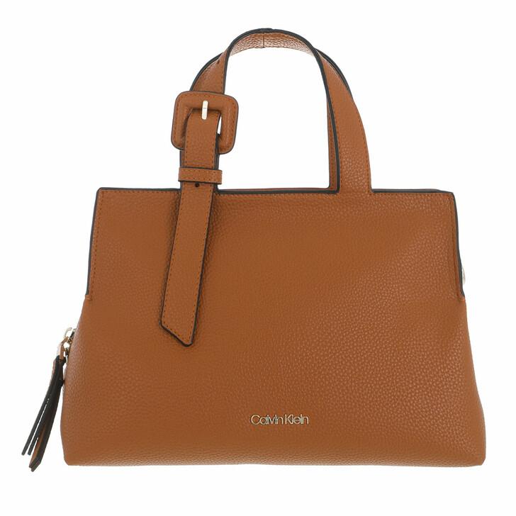 bags, Calvin Klein, Soft Neat Tote Medium Caramel