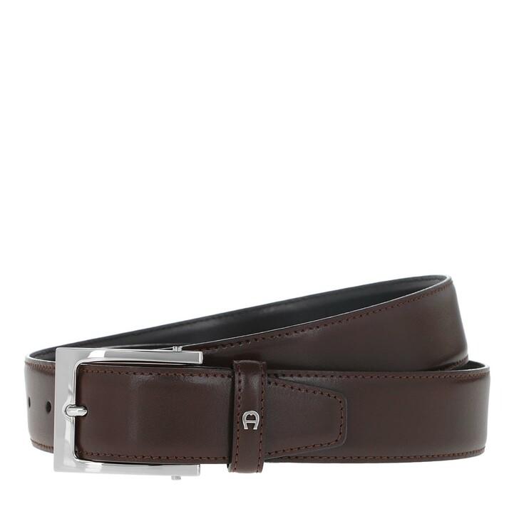 Gürtel, AIGNER, Business Leather Belt Ebony