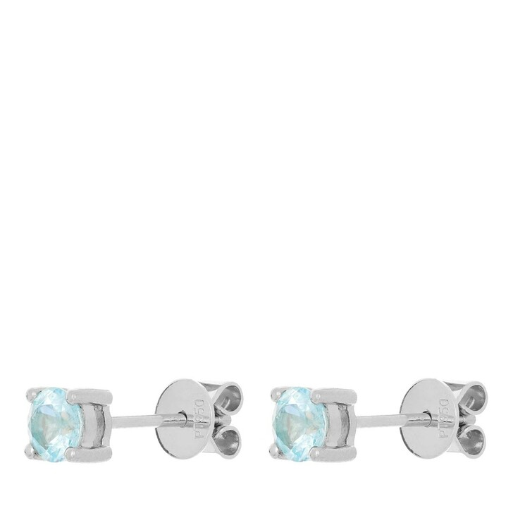 earrings, VOLARE, Earring Studs 2 Paraiba Turmaline 0,75 ct  Platinum