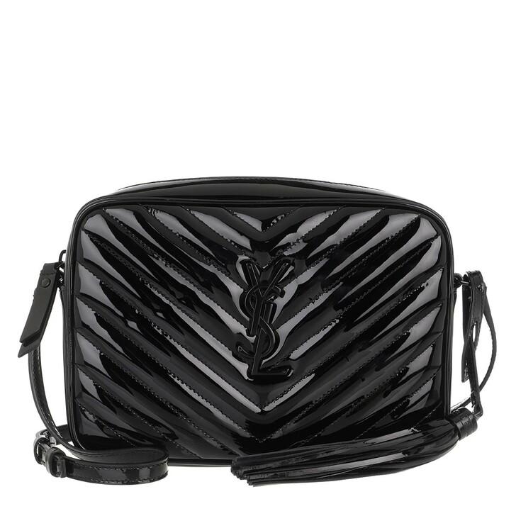 Handtasche, Saint Laurent, Lou Medium Crossbody Bag Leather Black