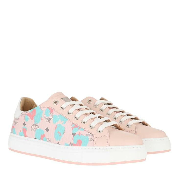 Schuh, MCM, Classic Court Leopoard Visetos Sneaker Powder Pink
