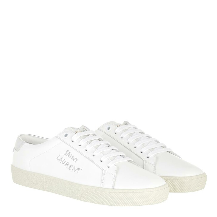 Schuh, Saint Laurent, Court Classic Sneakers White/Silver