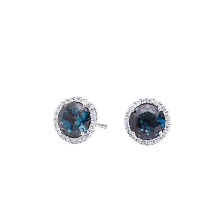 Ohrring, Capolavoro, Earrings Espressivo Topas London Blue Faceted White Gold