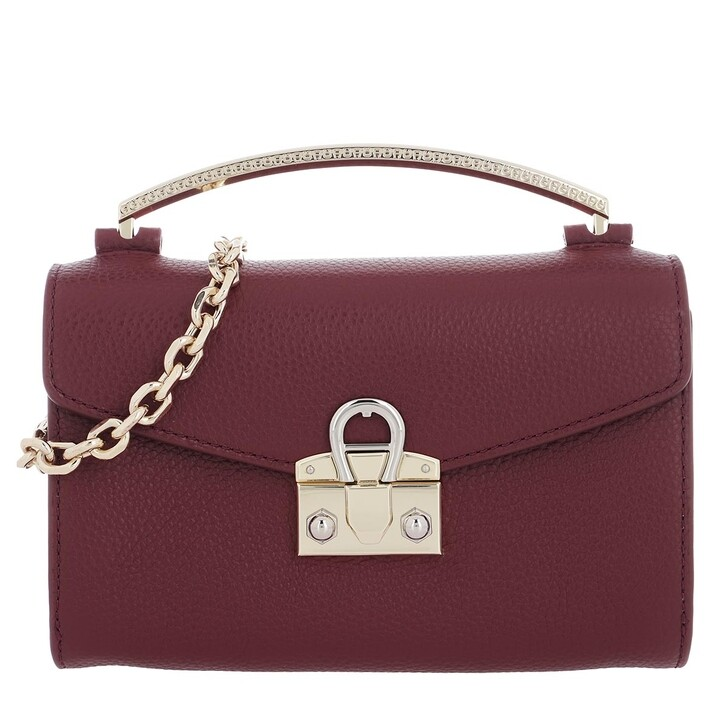 Handtasche, AIGNER, Mina XS Handle Bag Burgundy