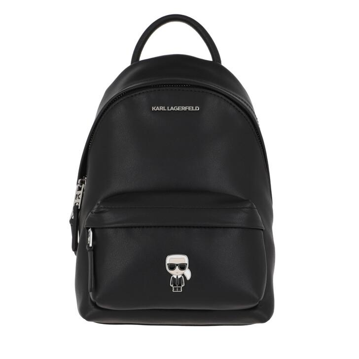 Reisetasche, Karl Lagerfeld, K/Ikonik Metal Pin Backpack  Black