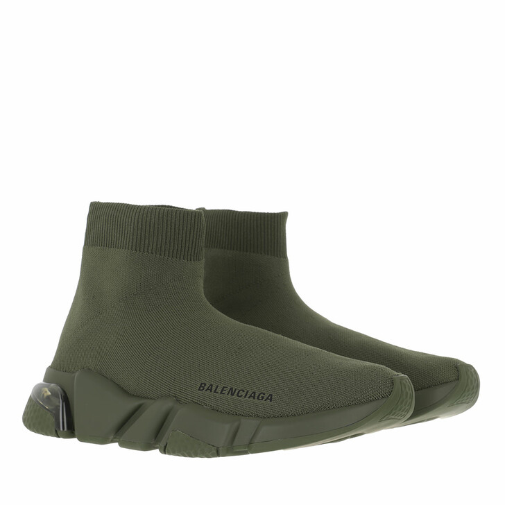 shoes, Balenciaga, Speed Recycled Sneaker Dark Green