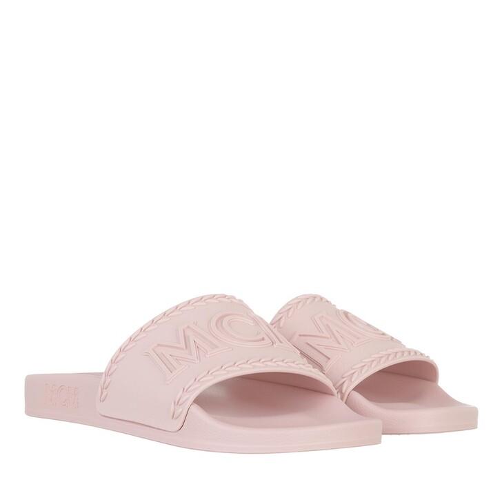 shoes, MCM, W Big Logo Rubber Slide QH Pink