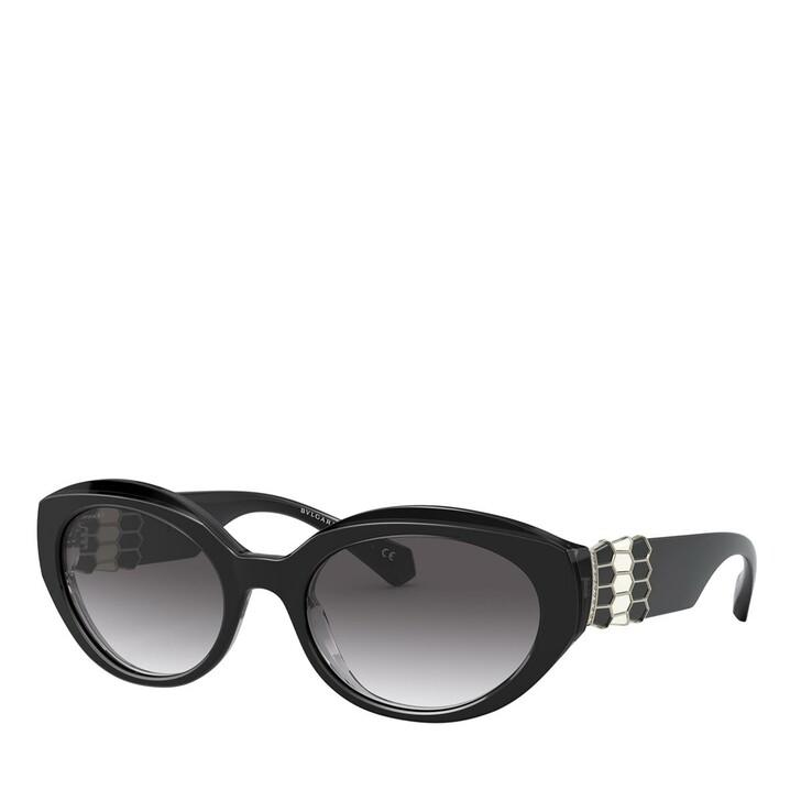 Sonnenbrille, BVLGARI, AZETAT WOMEN SONNE TOP BLACK/GREY
