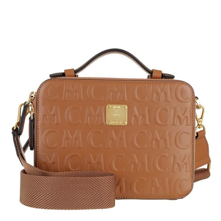 Handtasche, MCM, Klara Mcm Mini Lt Crossbody Small   Cognac
