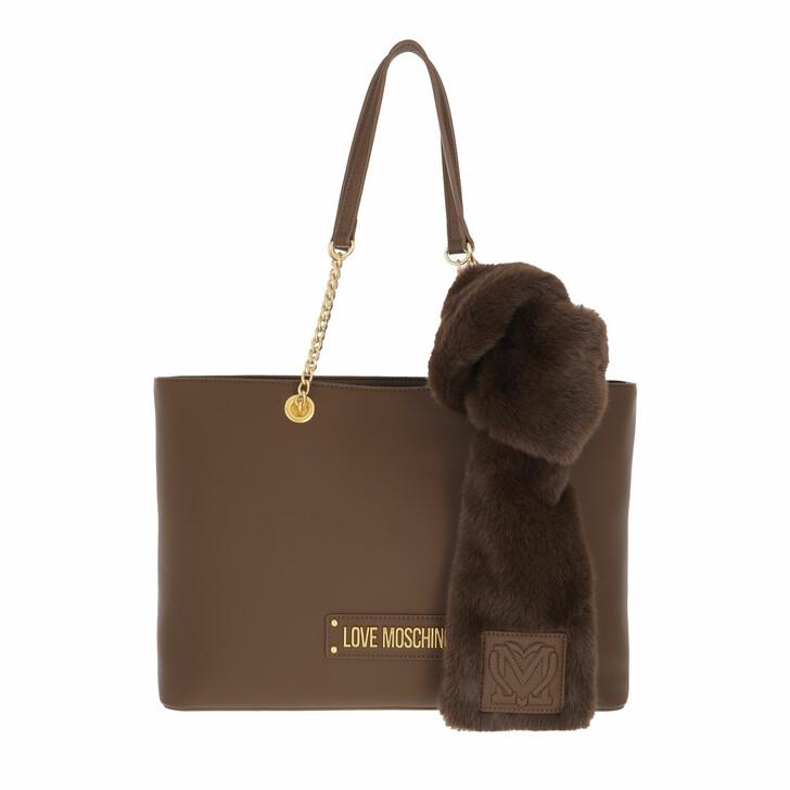 bags, Love Moschino, Borsa Pu  Marrone
