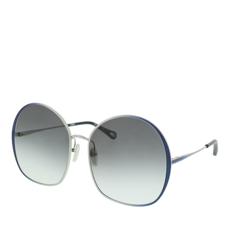 Sonnenbrille, Chloé, Sunglass WOMAN METAL BLUE-BLUE-GREY