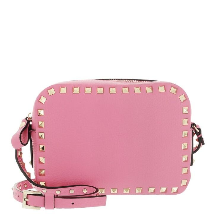 bags, Valentino Garavani, Rockstud Camera Crossbody Bag Dawn Pink