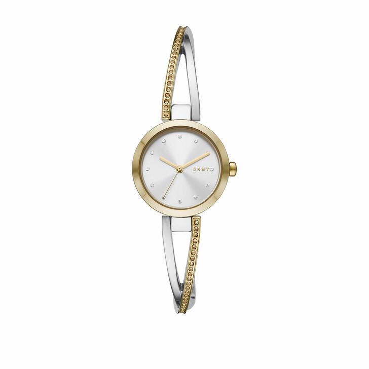 Uhr, DKNY, Crosswalk Three-Hand Stainless Steel Watch Silver Gold