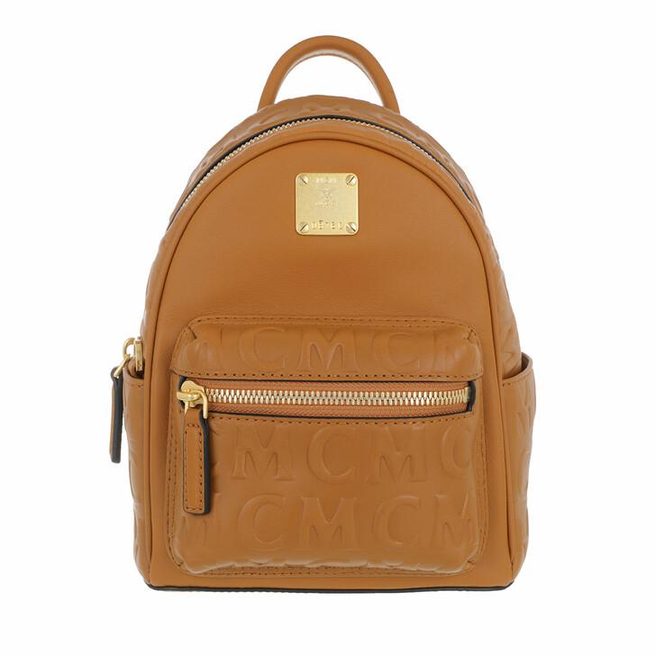 Reisetasche, MCM, Stk Mcm Mini Lt Backpack 020   Cognac