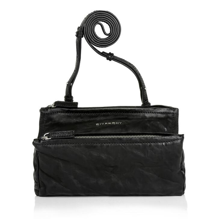Handtasche, Givenchy, Pandora Mini Bag Washed Leather Black