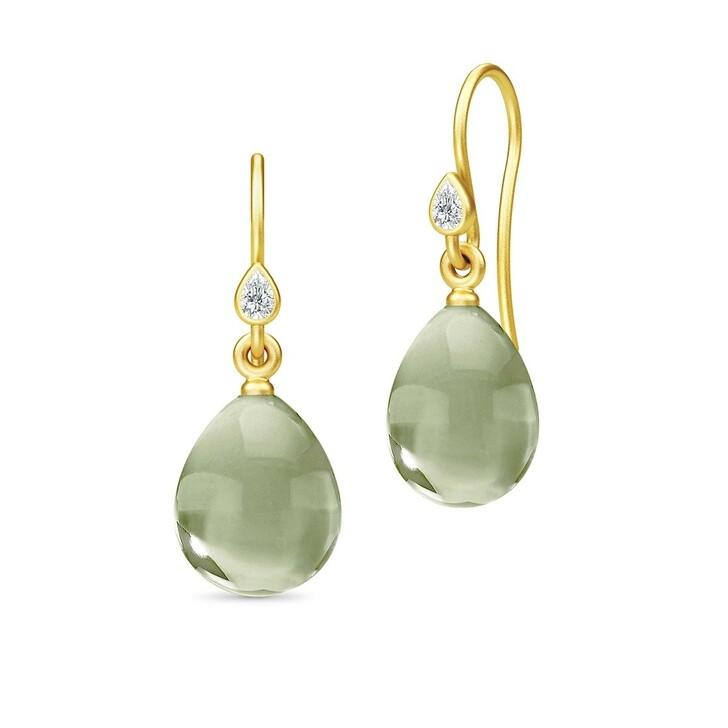 Ohrring, Julie Sandlau, Prima Ballerina Earrings Gold/Olive