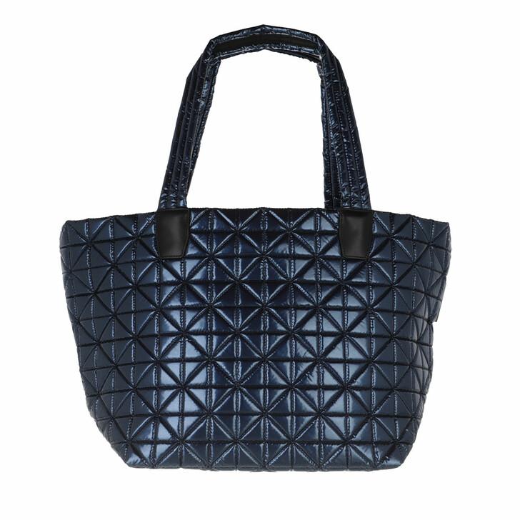 bags, VeeCollective, Vee Tote Medium Navy Metallic