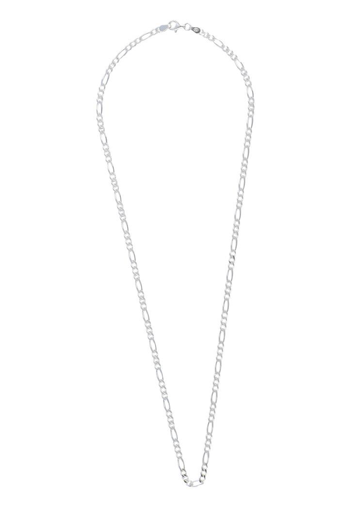 Kette, LLR Studios, Medium Figaro 45cm Necklace Silver