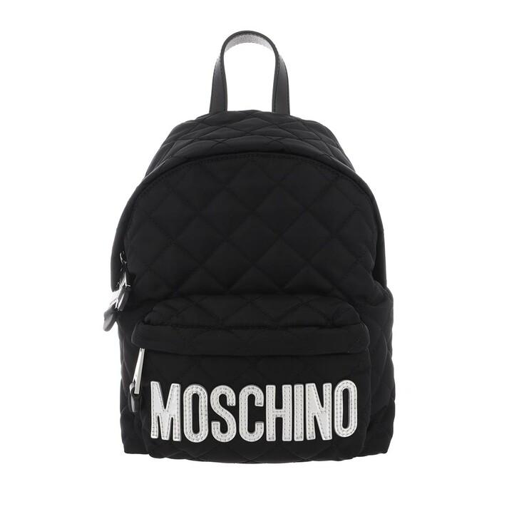 Reisetasche, Moschino, Backpack Fantasia Nero