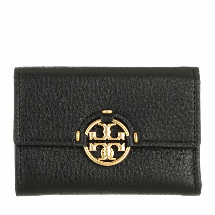 wallets, Tory Burch, Miller Medium Flap Wallet Black