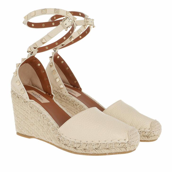 Schuh, Valentino Garavani, Espadrilles Calfskin Light Ivory