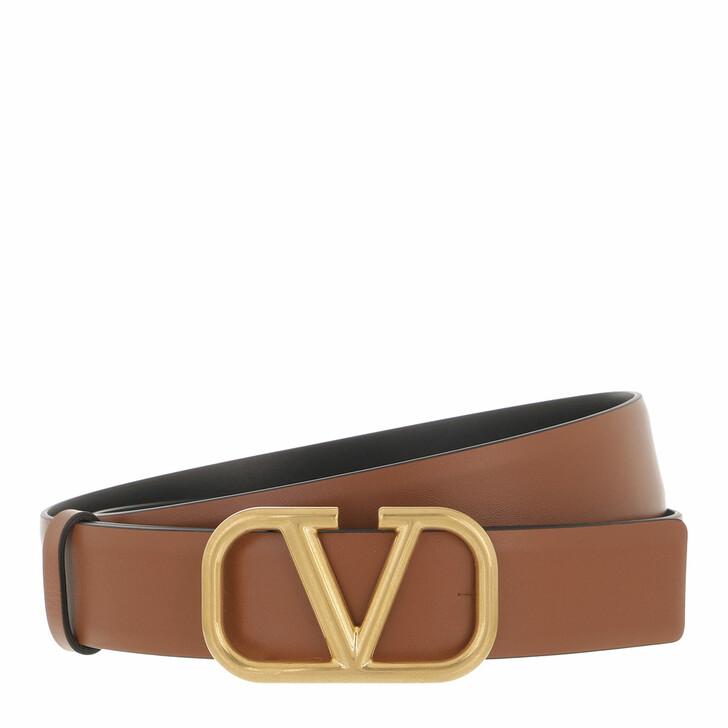 belts, Valentino Garavani, Reversible Belt Leather Brown Black