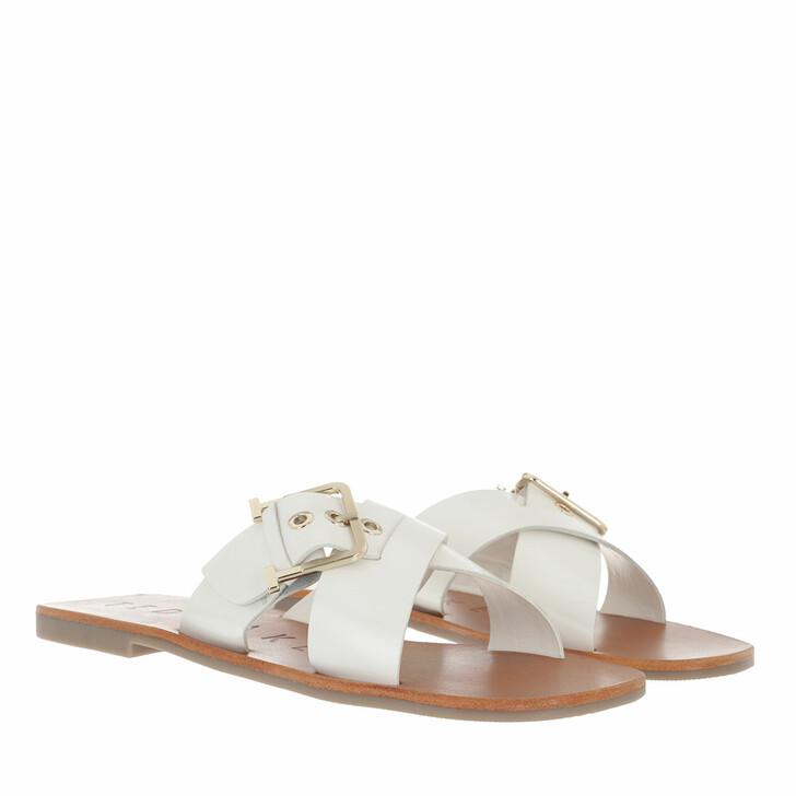 Schuh, Ted Baker, Joseei Buckle Detail Flat Sandal White