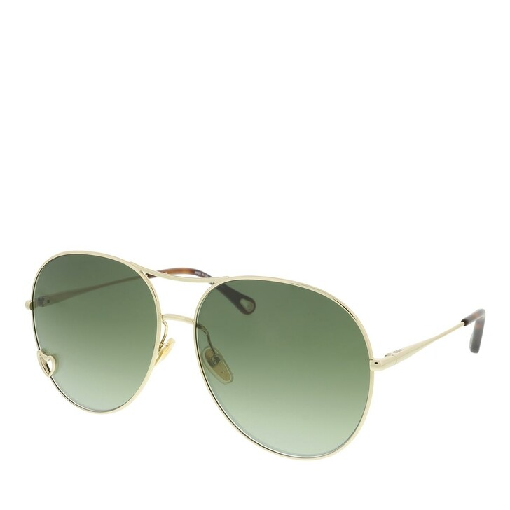 Sonnenbrille, Chloé, Sunglass WOMAN METAL GOLD-GOLD-GREEN