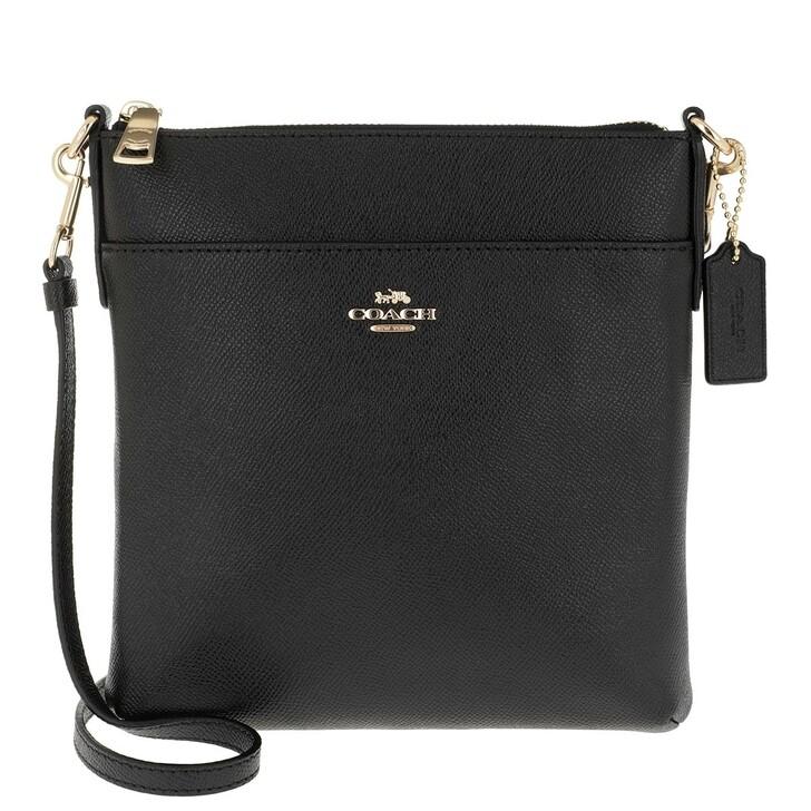 Handtasche, Coach, Crossgrain Leather Kitt Gd/Black