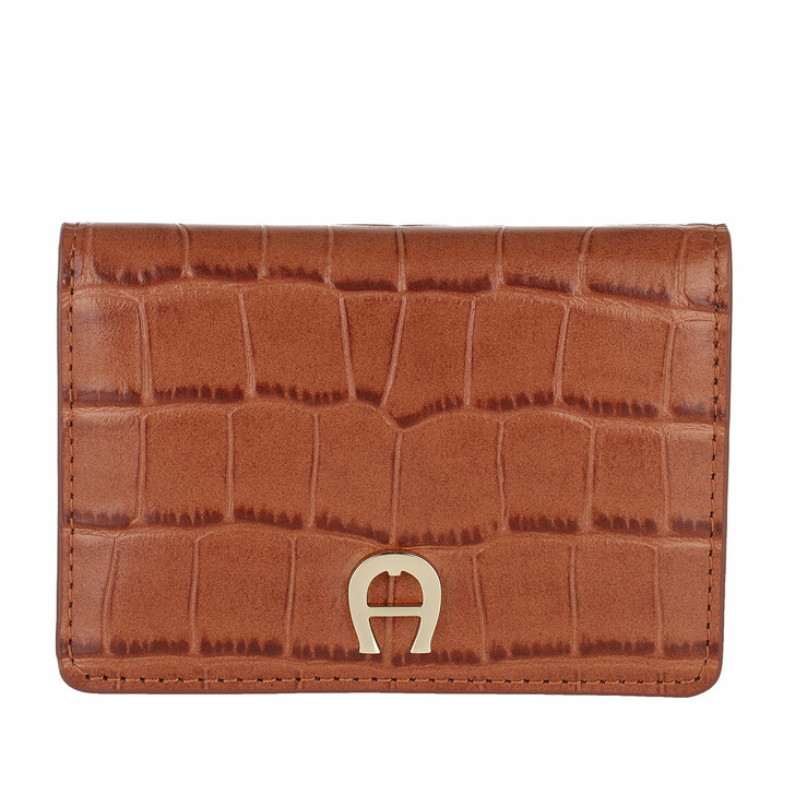 wallets, AIGNER, Card Holder   Cognac
