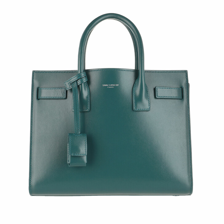 Handtasche, Saint Laurent, Sac De Jour Mini Leather Green