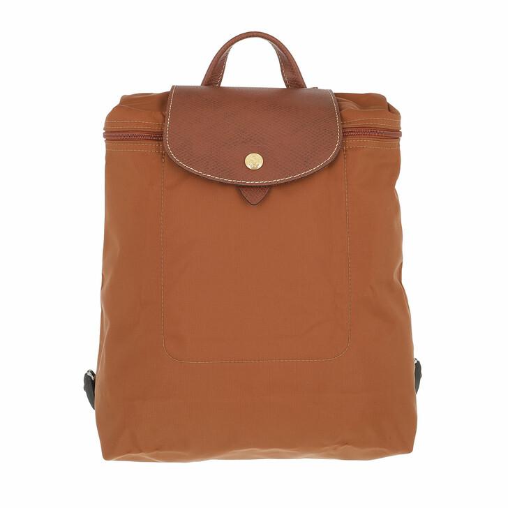 bags, Longchamp, Le Pliage Original Backpack  Cognac