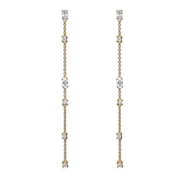 Ohrring, Charlotte Lebeck, Jamina Chain Earrings Yellow Gold