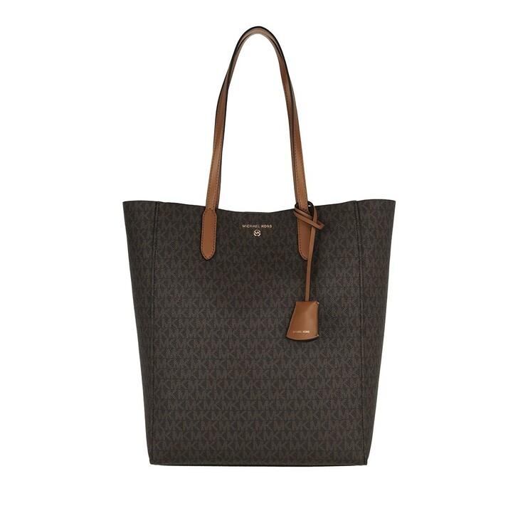 bags, MICHAEL Michael Kors, Sinclair Large Ns Shopper Tote Brown/Acorn