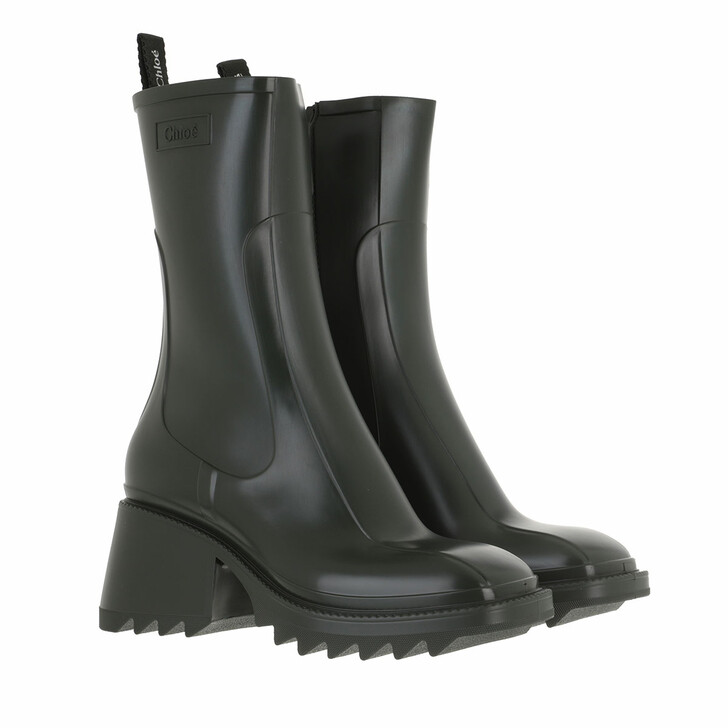 shoes, Chloé, Betty Rain Boots Wide Forrest